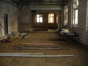 Po vybourání původních podlah.